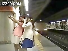 cute twin teens invaded in train room 02