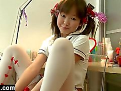 Young Asian Teen Discovering Her Body