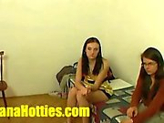 Teen fucked in both holes at the first casting