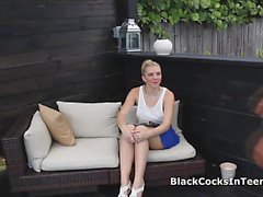 Kinky blonde teen riding BBC