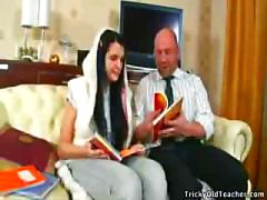 Innocent Teen Konnie's First Time With Old Teacher