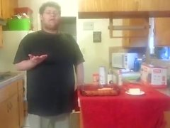 Boy saves pussy for later, cooks fish now.