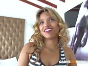 CARNE DEL MERCADO - Latina country girl picked up for a taste of city cock