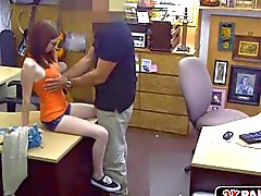 Sexy Jenny gets fucked hard at the pawn shop