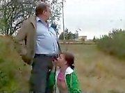 Young Russian girls fucking in public