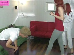 Sexy Self Defense Ballbusting Trampling Foot Stuffing Previe