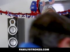 FamilyStrokes - Independence Party Turns Into Family Orgy