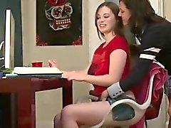 College girls shave senior in lesbian sorority