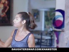 DaughterSwap - Cute Petite Teen Gets Fucked By Gymnast Dad