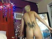 Amateur blonde hot striptease