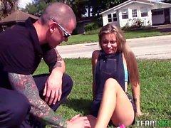 Kaylee Jewel fucks with a security guard