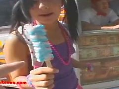 icecreampie truck 18 year old on roller skates gets long white cock poundin