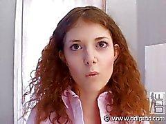 Redhead teen casting vid