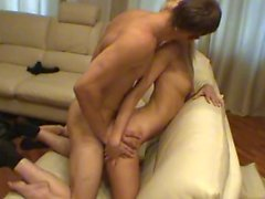 Kinky and raw couch sex