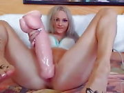 18 years old Teen with big dildo