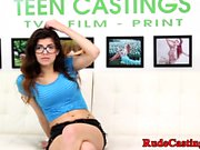 Real casting teen fucked hard by fat cock