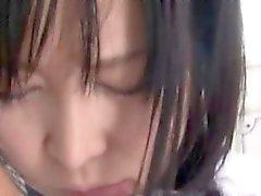 Asian schoolgirl getting anal fingered