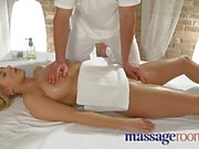 Massage Rooms Busty young girl is sensually oiled and fucked