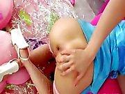 blondie anal acrobat with brutal asshole
