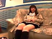 Dazzling Japanese teen has a sex toy making her pink pantie