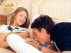 Glamour teen Anjelica asshole pounded and cum facialed