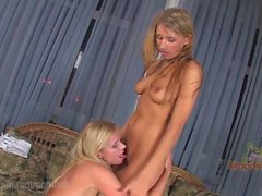 StraponCum: Blondes Have WAY More Fun! Part 1 of 4. Two Sweet Young Blondes
