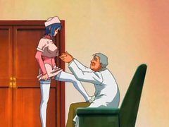 Young nurse blows the horny old doctor lustily