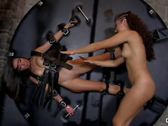 Chicas Loca - Latina Mexican Girlfriends Frida Sante and Melody Petite Fuck BDSM-style