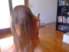 Dutch webcam teenager with her magic wand.