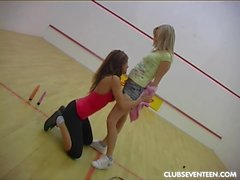 Young lesbians toying slits