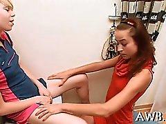 Solo girl screws her wet gash