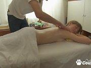 Petite blonde getting a erotic massage n sex
