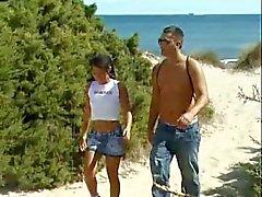 tanned teen on the beach