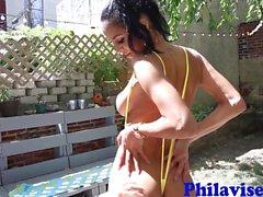 Brazilian brunette bombshell Abby Lee Brazil