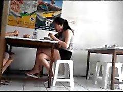 Sexy Leg Pretty Teen at Bakwan Subur, Surabaya, Indonesia