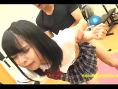 Mimi Yazawa Fucked In The Gym Wearing Her School Uniform Shaved Pussy