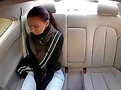 Teen brunette Lea gets fucked for cash
