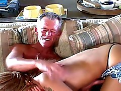 Hot babe loves fuck old mature dicks