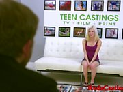 Teen beauty banged at brutal casting
