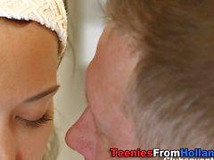 Cummed dutch teen blows