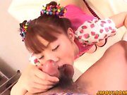 Mari Yamada gets her hairy pussy licked fingered and dildode