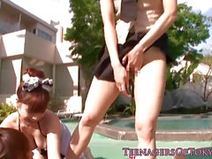 Wild japanese teens gangbang