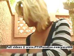 Svetlana easy going teenage gorgeous blonde posing