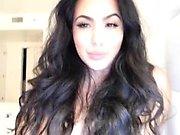 Intense webcam striptease