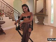 Skinny black babe got ass fucked hard