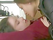 Smoking hot lesbian seduction where pussy is wet