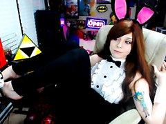 Webcam Striptease Selfshot 1