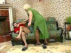 Blonde Grannie - punishment turns into sex
