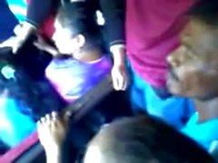 Encoxada horny Egyptian girl in bus
