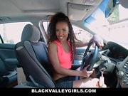 BlackValleyGirls - She Masturbates at the Car Wash